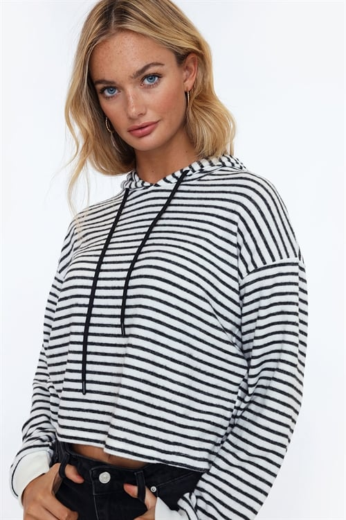 Soft Striped Hoodie