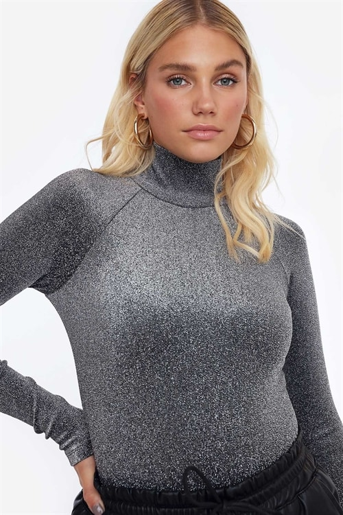 Make It Shine Glitter Bodysuit
