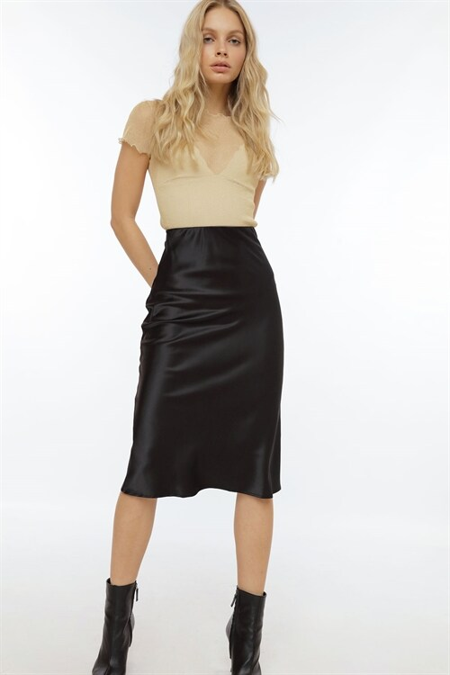 Promise Me Love Satin Skirt by Chiquelle