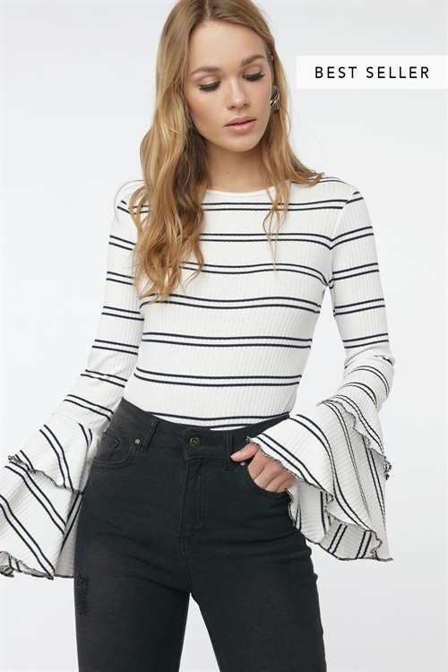 Good Vibes Ribbed Top