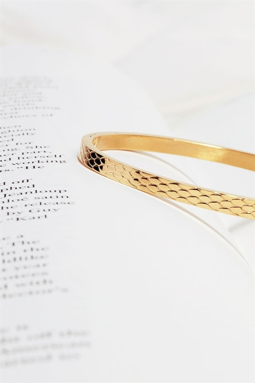 Snake Patterned Bangle